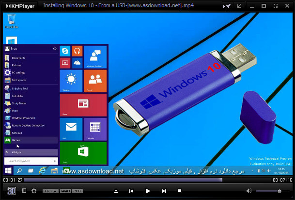 install windows 10 from flash usb