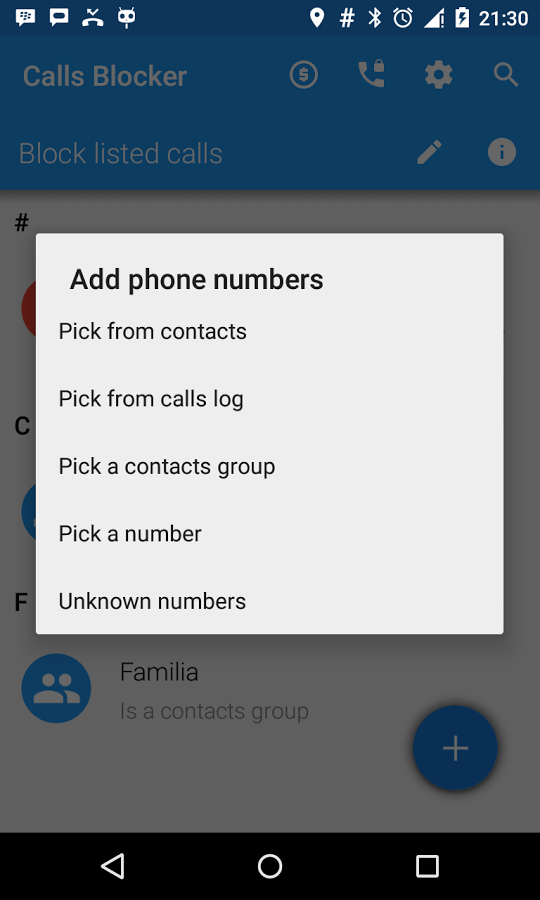 1- Calls Blocker