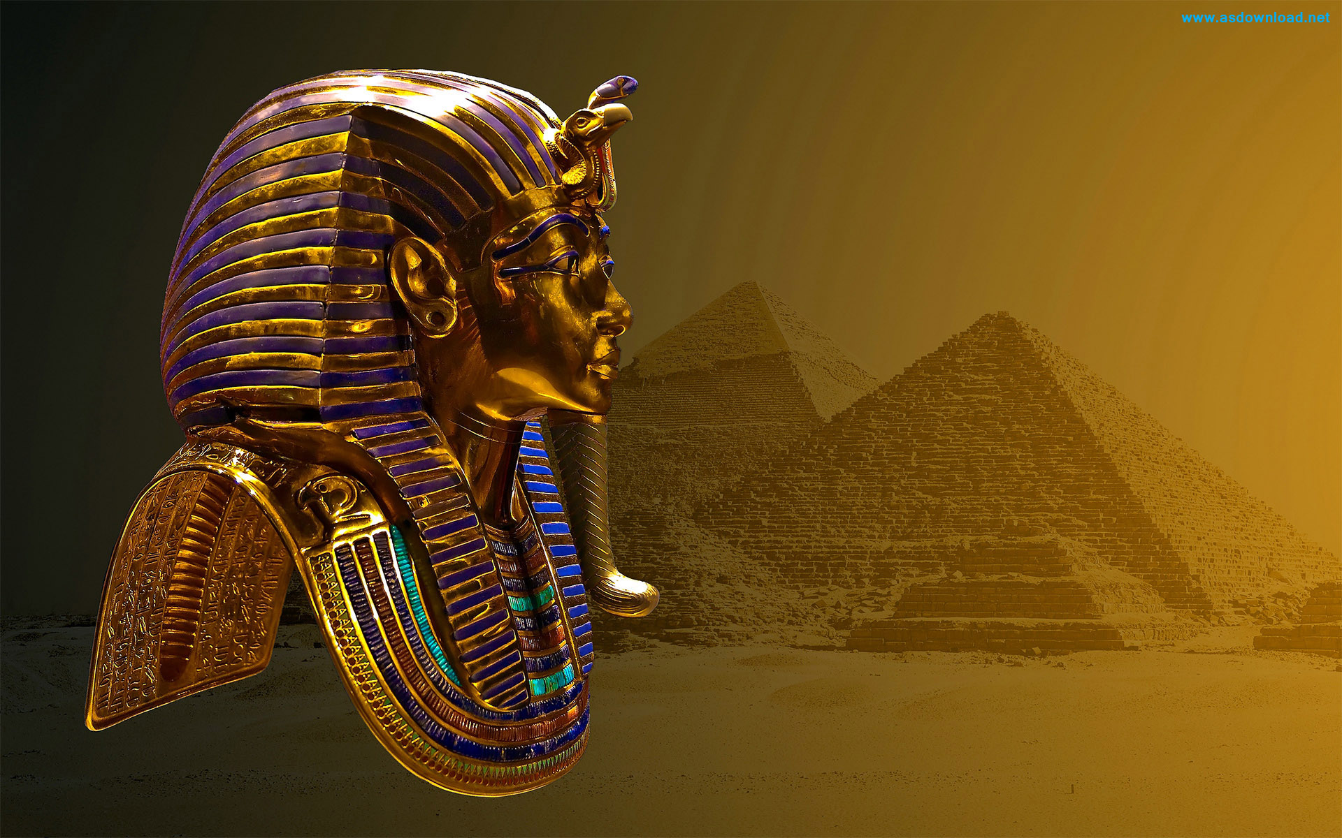 3D-Tutankhamun-Mask-Wallpaper