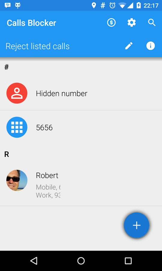 Calls Blocker - دانلود نرم افزار ردکردن و مسدود کردن تماس ها
