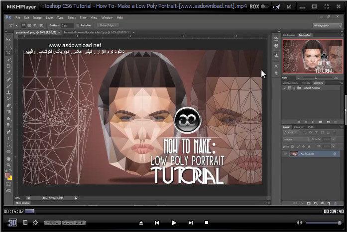 دانلود فیلم آموزش ساخت عکس پرتره با فتوشاپ cs6
