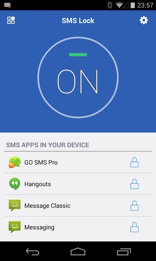 SMS Lock - نرم افزار قفل گذاری بر روی message اندروید