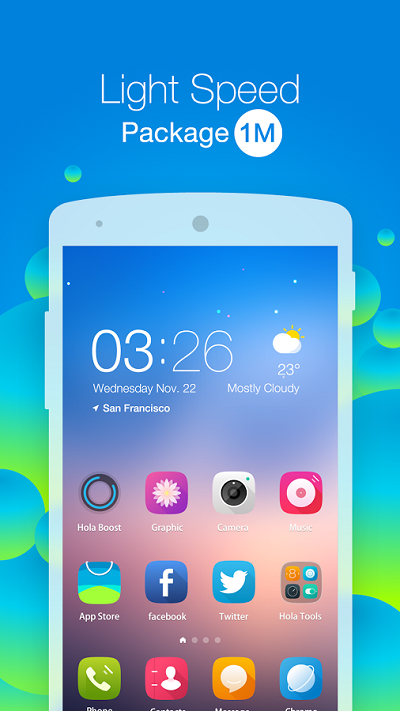 1-Hola Launcher - Simple & Fast