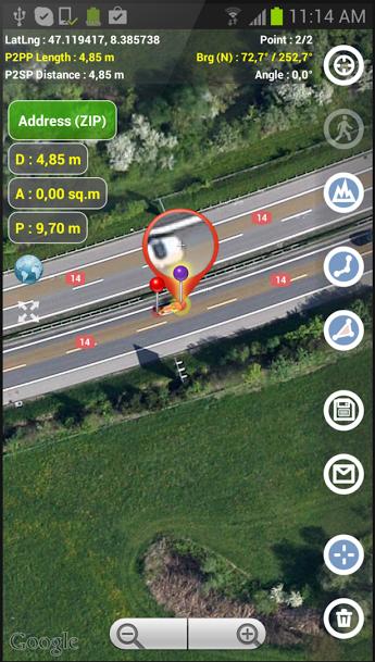 1-Planimeter - GPS area measure