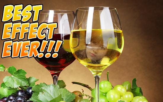Wine Glass Photo Frames HD - نرم افزار گذاشتن عکس ها بر روی شیشه شرابی