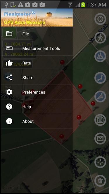 2-Planimeter - GPS area measure