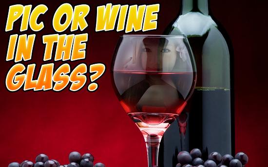 2-Wine Glass Photo Frames HD