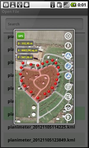 7-Planimeter - GPS area measure