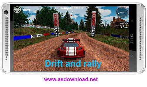 Drift and rally- بازی دریفت و رالی برای اندروید + دیتا