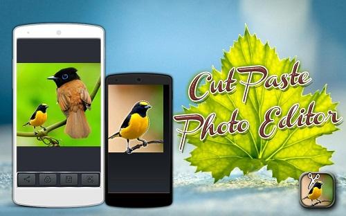 Cut Paste Photo Editor - نرم افزار برش عکس برای اندروید