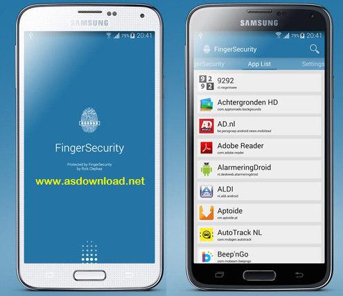 FingerSecurity - اپلیکیشن قفل گوشی های سامسونگ با اثر انگشت
