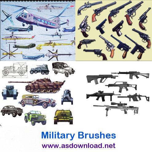 دانلود براش و قلم مو جنگ افزارهای نظامی برای فتوشاپ