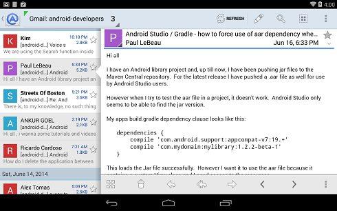 1-Aqua Mail - email app