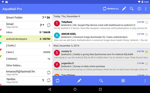 2-Aqua Mail - email app