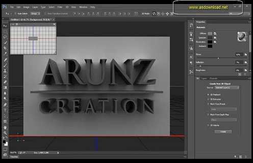 3D Text Effect in Photoshop CS6+CC Tutorial