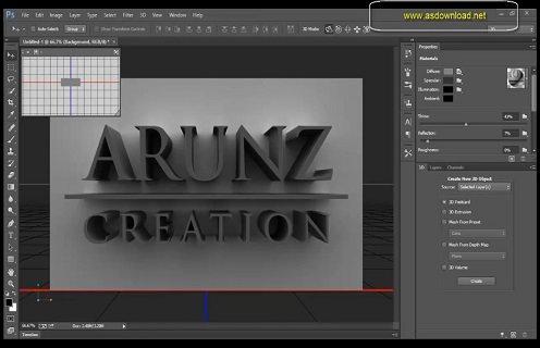 فیلم آموزش طراحی نوشته سه بعدی با photoshop cs6