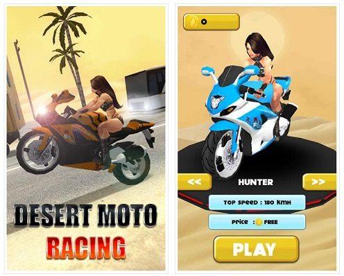 بازی مسابقه موتورسواری بیابان برای اندروید - Desert moto racing