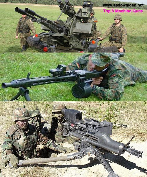 Top 8 Machine Guns