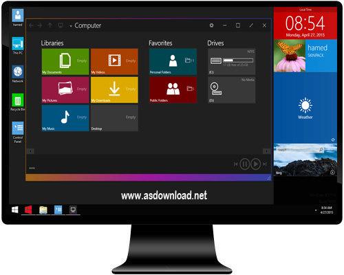 SkinPack red Windows 10 - دانلود اسکین پک قرمز برای ویندوز  10