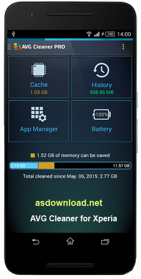 AVG Cleaner for Xperia