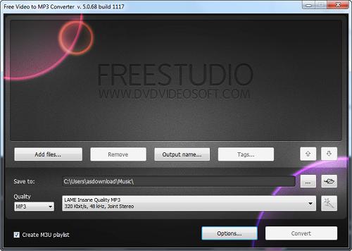 Free Video to MP3 Converter v5.0.68 - نرم افزار تبدیل فیلم به صدا