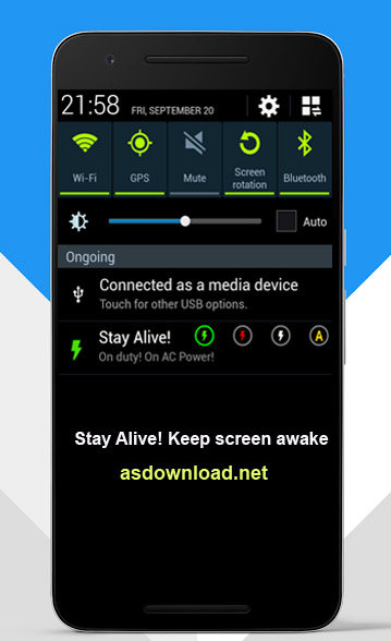 Stay Alive Keep screen awake