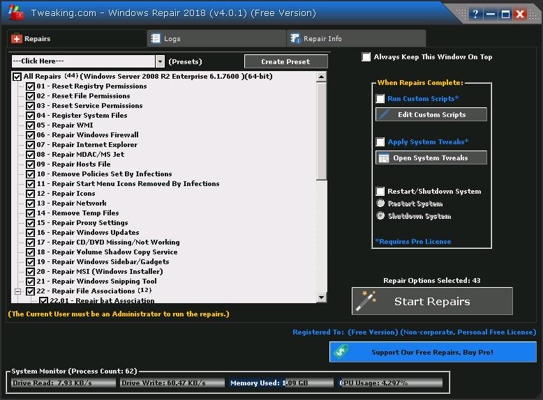 Windows Repair Pro - نرم افزار تعمیر ویندوز