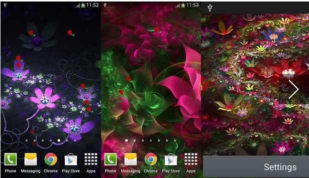 Fantasy Flowers Live Wallpaper android (1)