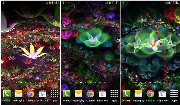 Fantasy Flowers Live Wallpaper android (2)