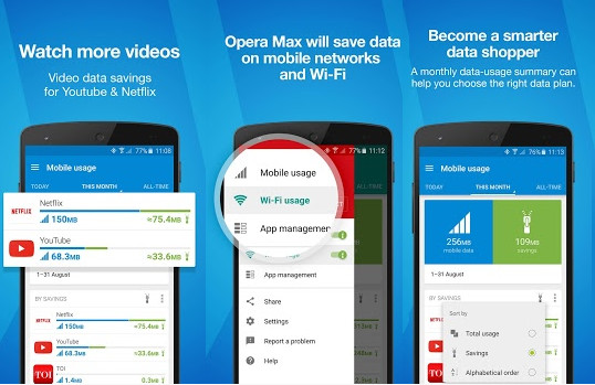 Opera Max - Data savings