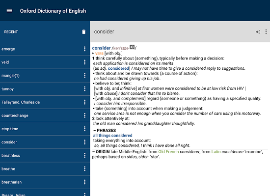 Oxford Dictionary of English- android