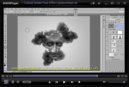 فیلم آموزش فتوشاپ cs6, cs5 - طراحی افکت سیگار