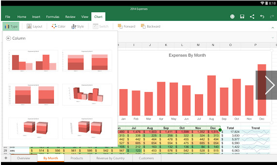 Microsoft Excel 2016 for-android