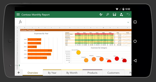 Microsoft Excel 2016 for android