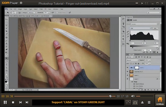 Photoshop Tutorial-Finger cut