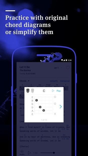 Ultimate Guitar Tabs & Chords  -نرم افزار آموزش آکوردهای گیتار