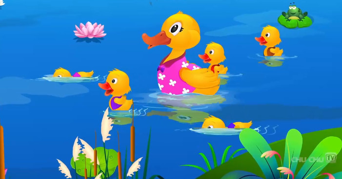 teching english Cartoon Animation-Five Little Ducks