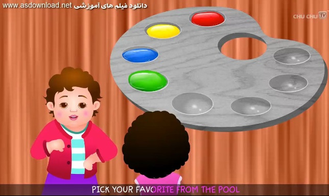 دانلود فیلم آموزش زبان انگلیسی برای کودکان و نوجوانان -رنگ ها
