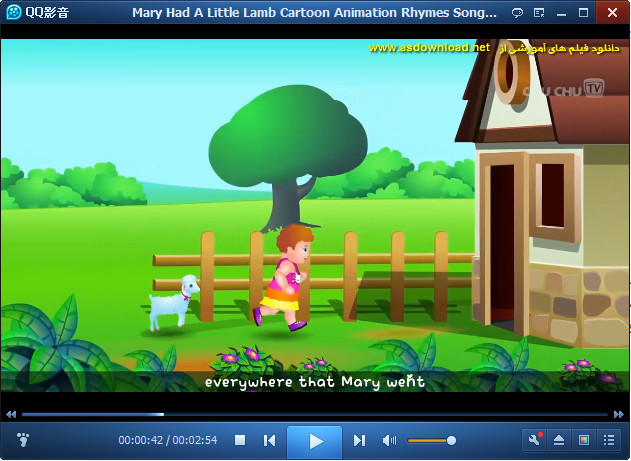 Mary Had A Little Lamb Cartoon Animation Rhymes Songs for Children