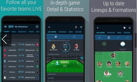 Football Livescore - 365Scores 3.6.6- دانلود نرم افزار نمایش نتایج زنده فوتبال برای اندروید