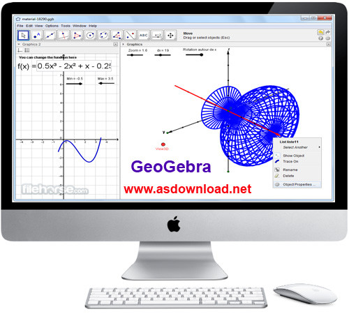 GeoGebra 5.0.211.0 - نرم افزار ترسیم اشکال هندسی و ریاضی