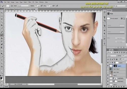 دانلود فیلم آموزش طراحی حرفه ای سیاه قلم بر روی چهره با فتوشاپ