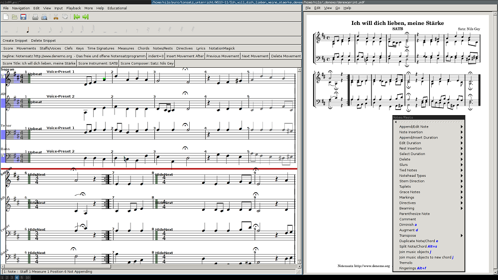 Denemo v2.0.6 - دانلود نرم افزار نت نویسی برای آهنگسازان