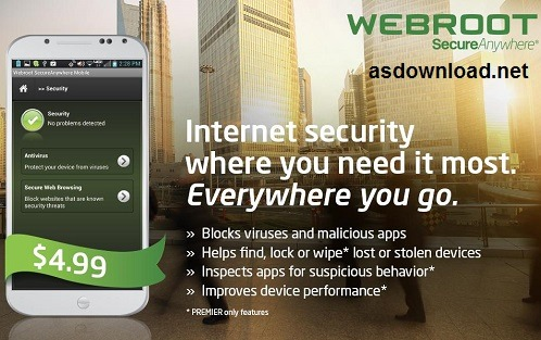 Photo of دانلود آنتی ویروس اندرویدی Webroot SecureAnywhere Mobile Premier 3.7.0.7267