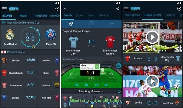 Football Livescore 365Scores 4.1.2- دانلود نرم افزار نمایش نتایج زنده فوتبال برای اندروید