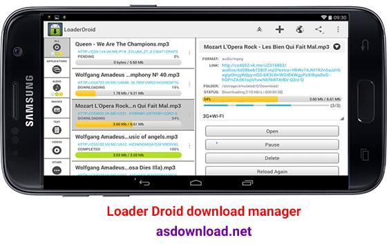 دانلود Loader Droid download manager 1.0.1- دانلود منیجر قدرتمند اندروید