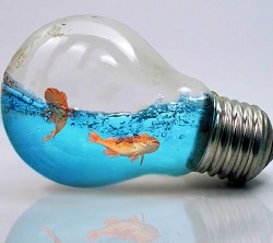 فیلم آموزش فتوشاپ طراحی دریا درون لامپ