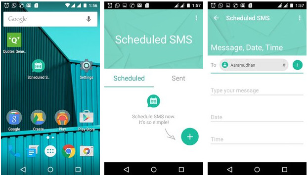 Scheduled SMS android