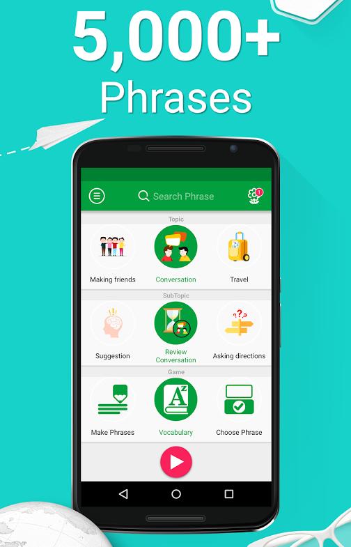 Learn English – 5000 Phrases v1.3.1 - نرم افزار یادگیری زبان انگلیسی