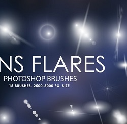 دانلود براش لنز برای طراحی وافکت نور در فتوشاپ